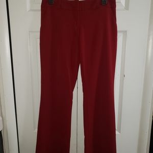 2/$25 My Michelle Bootcut Red Dress Pants